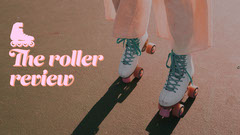 Pink & Orange Rollerskate Blog Banner  Sports