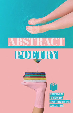 Pink and Cyan Poetry Reading Event Poster Kunstplakat
