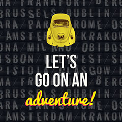 Black, Yellow and White Adventure Meme Instagram Graphic Travel