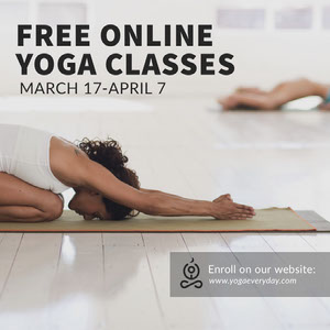 free online yoga classes Instagram post Yoga Posters