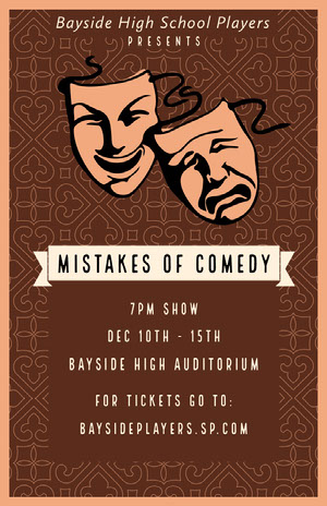 Brown Comedy Drama Play Poster Comedy Show and Movie Poster