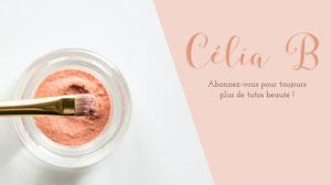 Pink Eyeshadow Pot Beauty Tutorials Youtube Channel Art Bannière