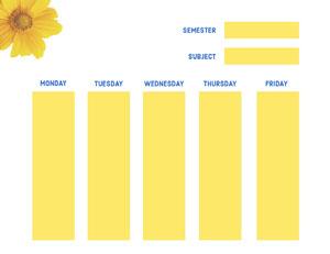 WEDNESDAY College Schedule
