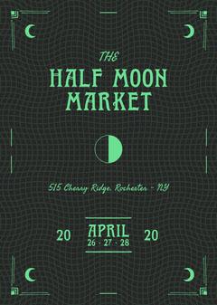 Half Moon Market Flyer Neon