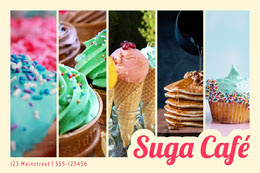 Dessert and Cafe Ad with Collage Montage photo