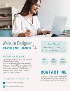 Blue Website Designer Media Kit  Career Poster