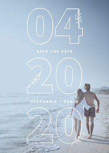 Beach Save The Date Partecipazioni di matrimonio