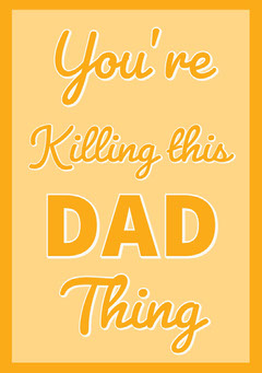 Orange and Yellow Fathers Day Card Typography