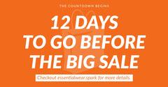 Orange and White Sale Facebook Advertisement Countdown