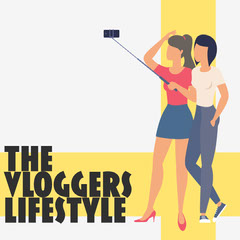 Illustration The Vloggers Lifestyle Podcast Instagram Square Podcast