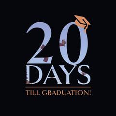 Graduation Countdown Instagram Square Graphic Countdown