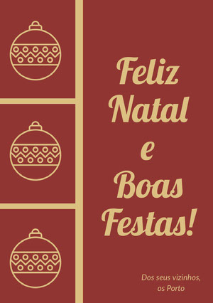 Feliz Natal e <BR>Boas Festas! Cartão de Natal