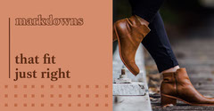 facebook ad markdowns boots shoes  Shoes