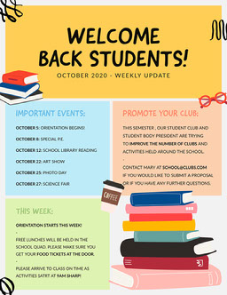 Colorful Squiggles Welcome Back Students School Newsletter
