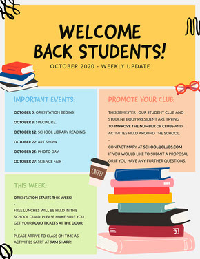 Colorful Squiggles Welcome Back Students School Newsletter Newsletter
