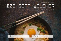 white dark ramen restaurant gift voucher card Giveaway