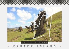 Light Toned, Travel Easter Island Postcard Easter