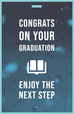 Blue and White Graduation Poster Graduation Card