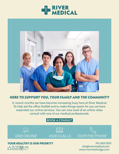 yellow blue healthcare medical services digital newsletter  Service