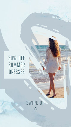 White and Blue Summer Dresses Sale Social Post Instagram Post