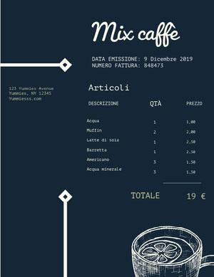 Mix caffè Invoice