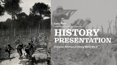 Greyscale War Collage Educational Presentation Cover History