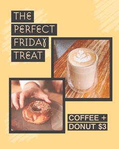 Yellow & Scribbles Cafe Offer Instagram Portrait Donut