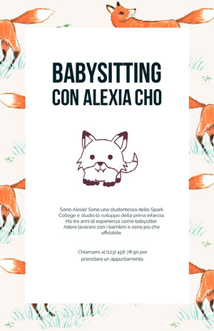 babysittingflyers  Volantino aziendale