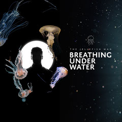 Black Abstract Collage Jellyfish Man Album Cover Square Water