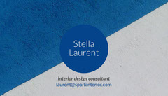 Blue and White Interior Design Consultant Business Card Interior Design