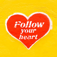 Follow Your Heart quote - Instagram Square Heart
