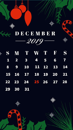 Winter December Calendar Iphone Wallpaper Calendari