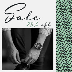 Black and Green, Monochrome, Men Clothing Sale Ad, Instagram Square Men