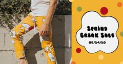 Orange Trousers Fashion Store Spring Break Sale Facebook Ad Spring