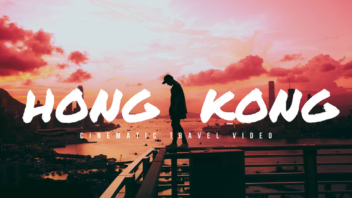 Pink and Black Hong Kong Travel Ad Facebook Banner  Ideas de banner YouTube