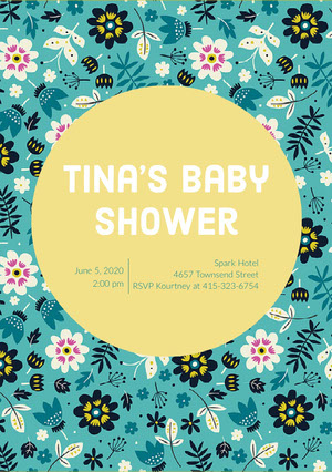 Tina's Baby Shower Baby Shower Thank You Card