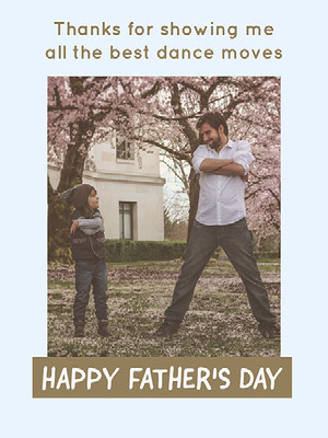 Blue and Brown Light Toned Fathers Day Poster Father's Day Messages