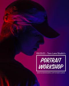 Purple Portrait Workshop Instagram Portrait Workshop