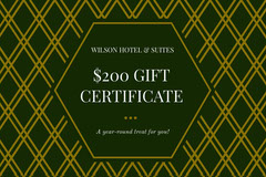 Gold and Black Hotel Discount Coupon Gold