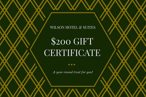 Gold and Black Hotel Discount Coupon Bon