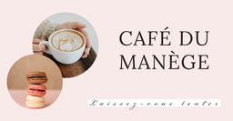 Pink macaroons coffee - Facebook ad