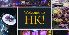 Purple and Violet Toned Welcome To Hong Kong College Facebook Post Welcome Poster