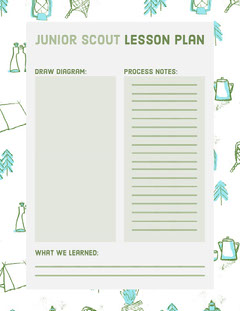 Junior Scout Lesson Plan Back to School