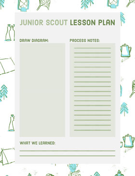 Green Illustrated Junior Scout Lesson Plan Educator