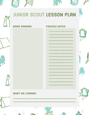 Green Illustrated Junior Scout Lesson Plan Horario de clase