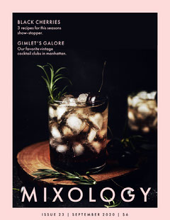 mixology magazine cover Drink