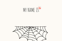 Spider and Cobweb Halloween Party Name Tag Festa di Halloween