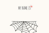 Spider and Cobweb Halloween Party Name Tag Scary