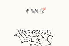 Spider and Cobweb Halloween Party Name Tag Halloween Party Name Tag