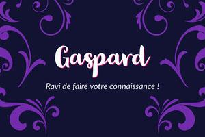 Purple Floral Ornament Name Tag Carte de membre/visiteur